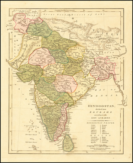 40-India Map By Robert Wilkinson