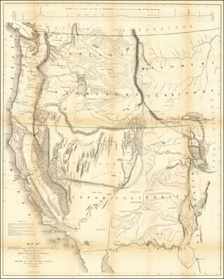 42-Southwest, Colorado, Utah, Nevada, Rocky Mountains, Oregon, Washington and California Map By Jo