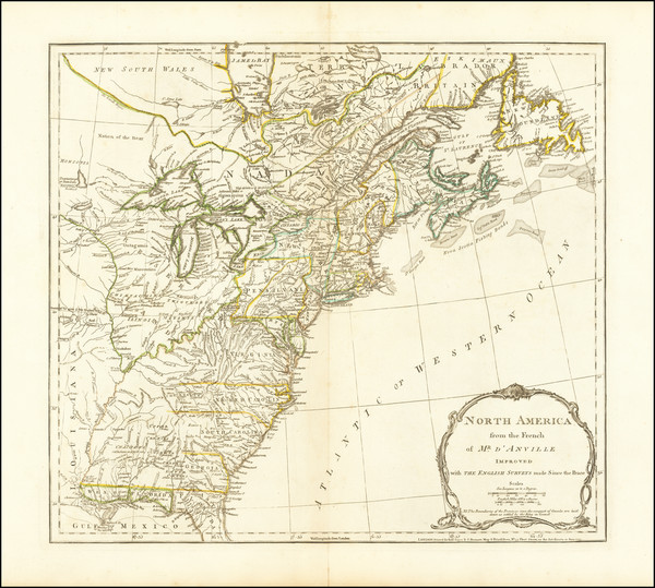 61-United States and American Revolution Map By Robert Sayer  &  John Bennett