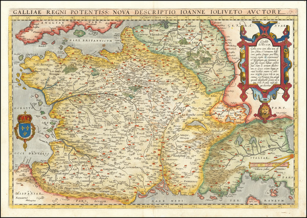 42-France Map By Abraham Ortelius