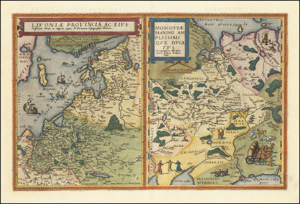 14-Russia and Baltic Countries Map By Cornelis de Jode