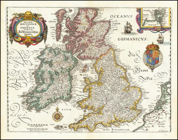 43-British Isles Map By Matthaus Merian