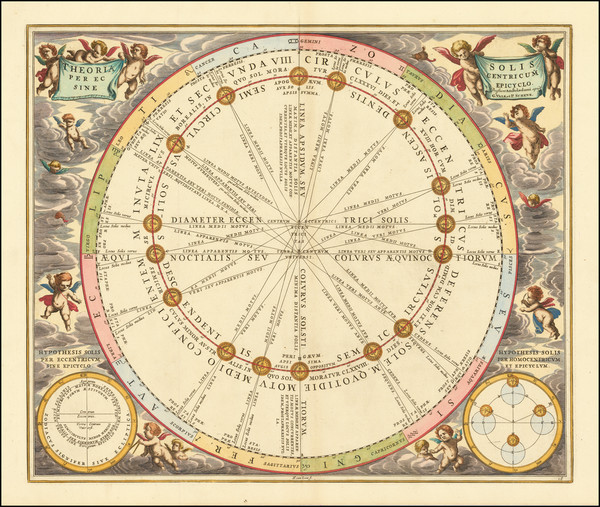 71-Celestial Maps Map By Andreas Cellarius