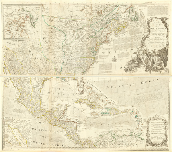 94-United States, Southeast, North America and American Revolution Map By Robert Sayer