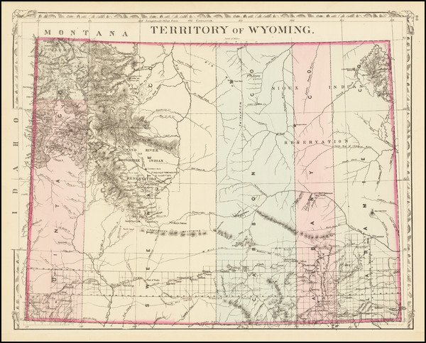 15-Wyoming Map By Samuel Augustus Mitchell Jr.