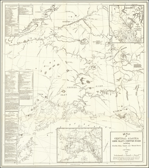 43-Alaska and Canada Map By Joseph Burr Tyrrell