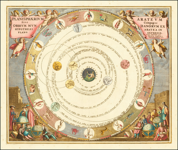 27-World and Celestial Maps Map By Andreas Cellarius