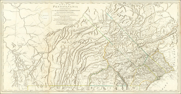 65-Pennsylvania and American Revolution Map By Nicholas Scull