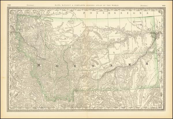 98-Montana Map By Rand McNally & Company