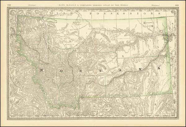 33-Montana Map By Rand McNally & Company