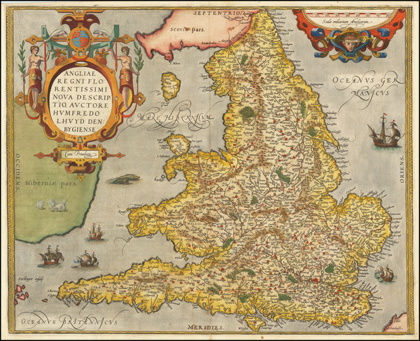 73-British Isles and England Map By Abraham Ortelius