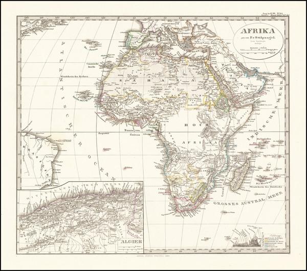 94-Africa Map By Augustus Stieler