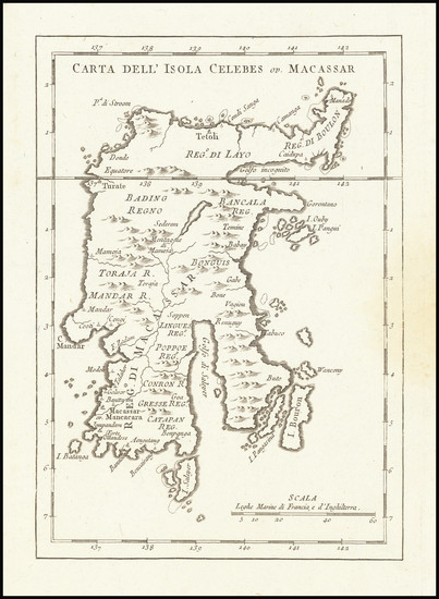55-Southeast Asia and Other Islands Map By Jacques Nicolas Bellin
