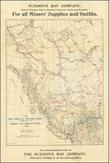74-Alaska, Canada and British Columbia Map By Hudson's Bay Company