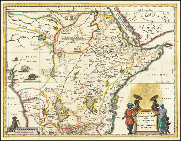 20-Africa, East Africa and West Africa Map By Matthaeus Merian