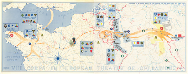 95-France, Germany and World War II Map By U.S. Army Corps of Topographical Engineer