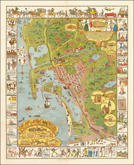 93-San Diego Map By Jo Mora