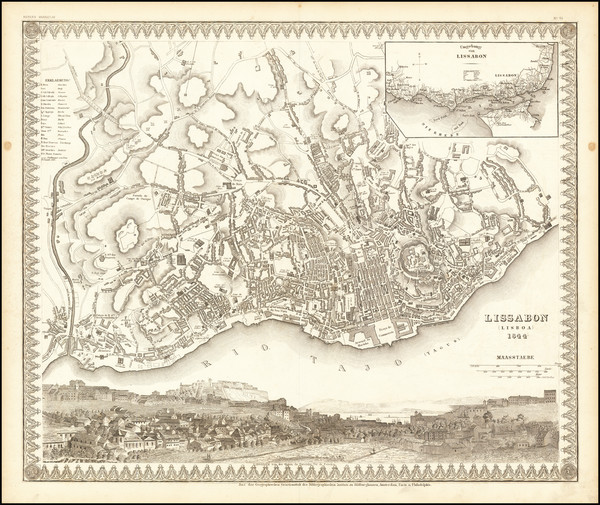 20-Portugal Map By Joseph Meyer