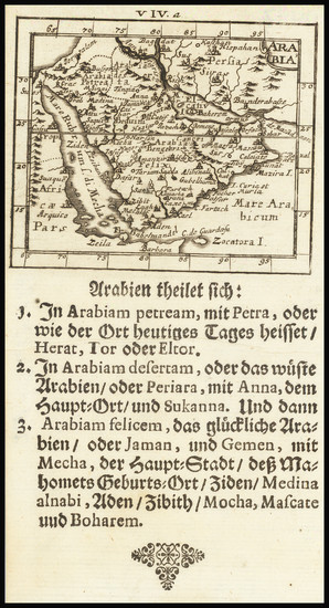 62-Middle East and Arabian Peninsula Map By Johann Ulrich Muller