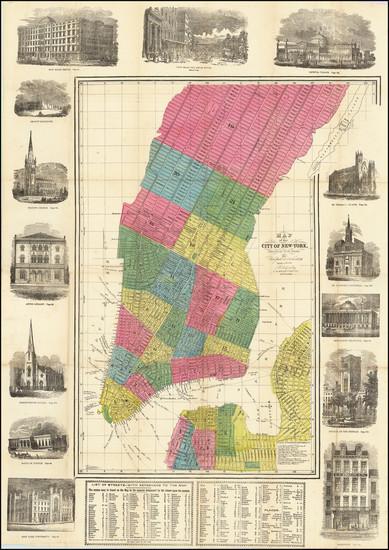 63-New York City Map By David Hugh Burr