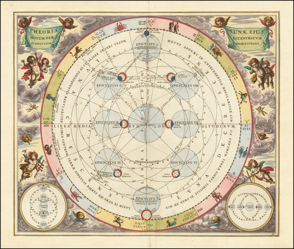 36-Celestial Maps Map By Andreas Cellarius