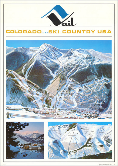 29-Colorado, Colorado and Pictorial Maps Map By Hal Shelton