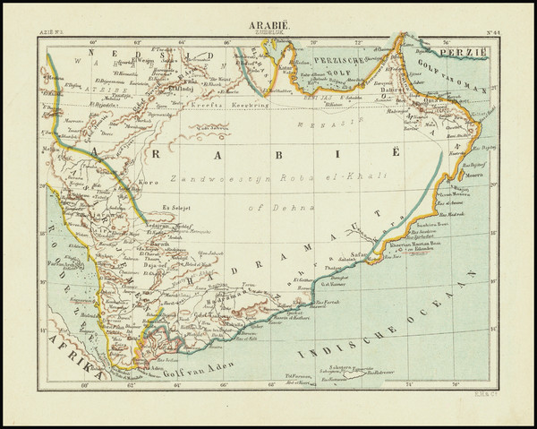 23-Arabian Peninsula Map By Kuyper