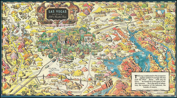 66-Nevada and Pictorial Maps Map By Raymond Winters