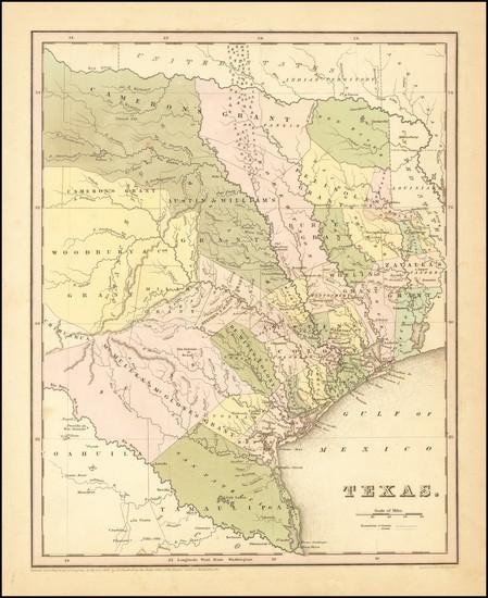 15-Texas Map By Thomas Gamaliel Bradford