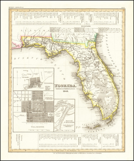 55-Florida Map By Joseph Meyer