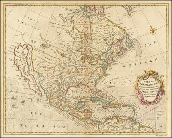 77-North America and California as an Island Map By Richard William Seale