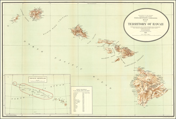 61-Hawaii and Hawaii Map By U.S. General Land Office