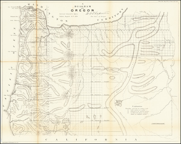 94-Oregon Map By U.S. General Land Office