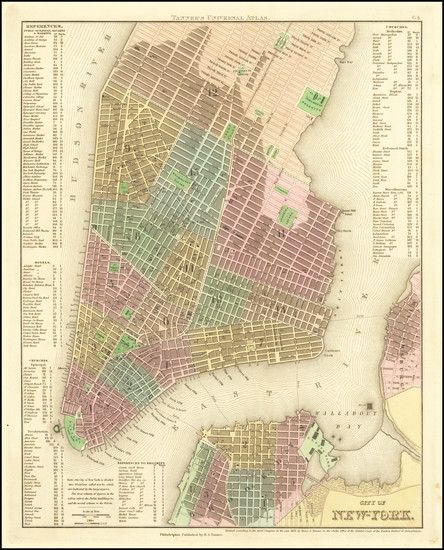 81-New York City Map By Henry Schenk Tanner