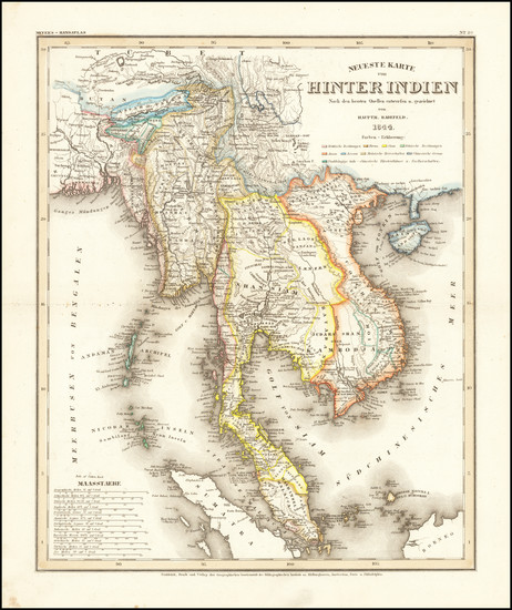 64-Asia and Southeast Asia Map By Joseph Meyer