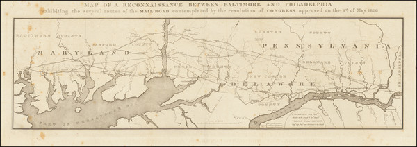 65-Pennsylvania, Maryland and Delaware Map By U.S. Government