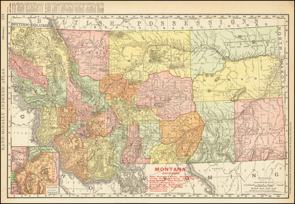 13-Montana Map By Rand McNally & Company