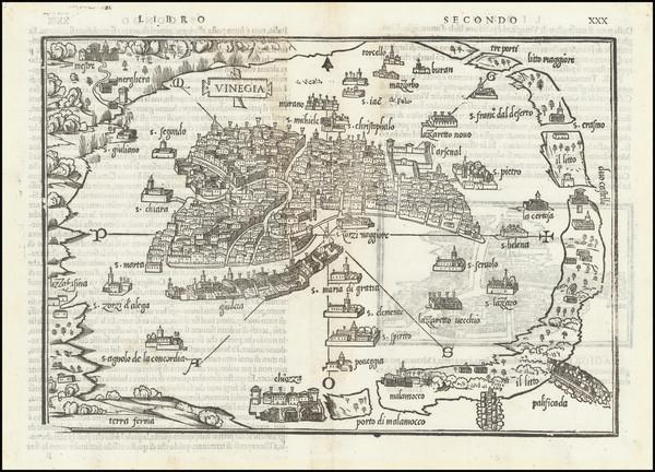31-Venice Map By Benedetto Bordone