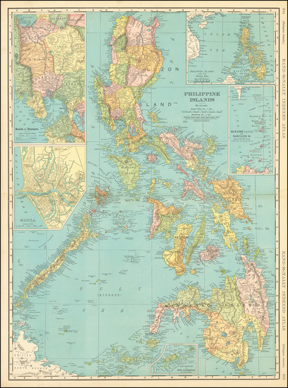 16-Philippines Map By Rand McNally & Company