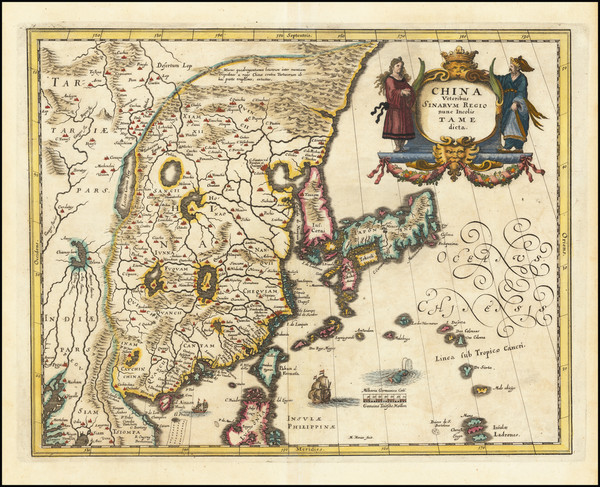 26-China, Japan and Korea Map By Matthaus Merian