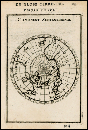 68-Northern Hemisphere and Polar Maps Map By Alain Manesson Mallet