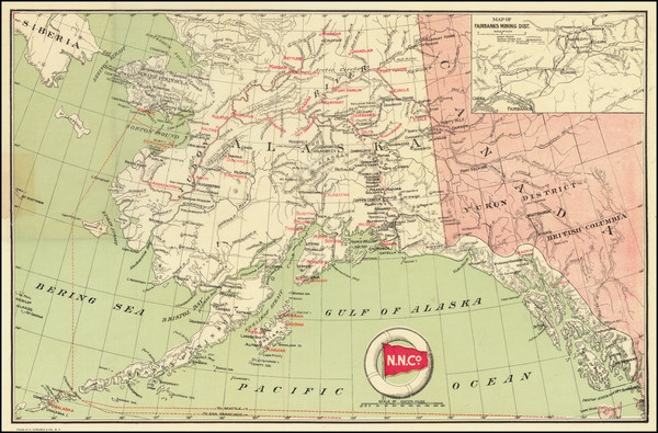 49-Alaska Map By Northern Navigation Co.