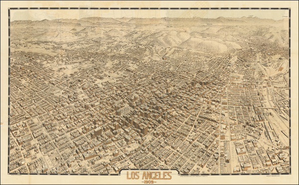 20-California and Los Angeles Map By Birdseye View Publishing Co.