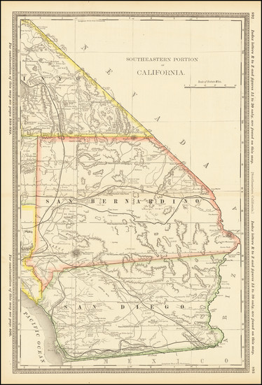 45-California and San Diego Map By Rand McNally & Company