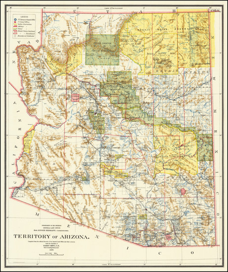 41-Arizona Map By General Land Office