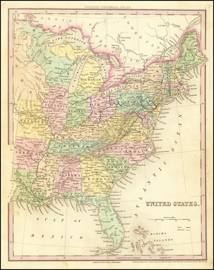 54-United States Map By Henry Schenk Tanner