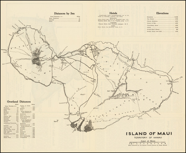 75-Hawaii and Hawaii Map By Hugh Howell