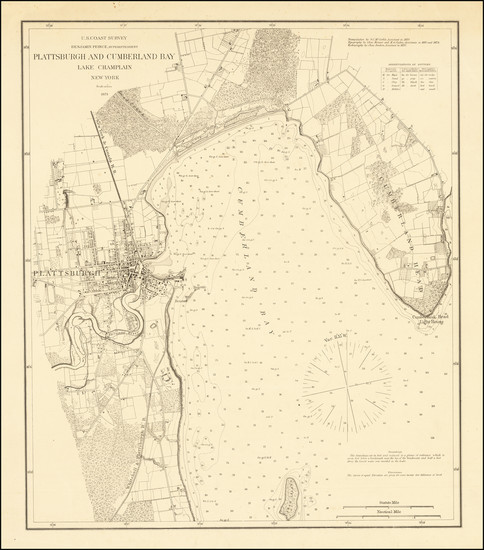 56-New York State Map By U.S. Coast Survey
