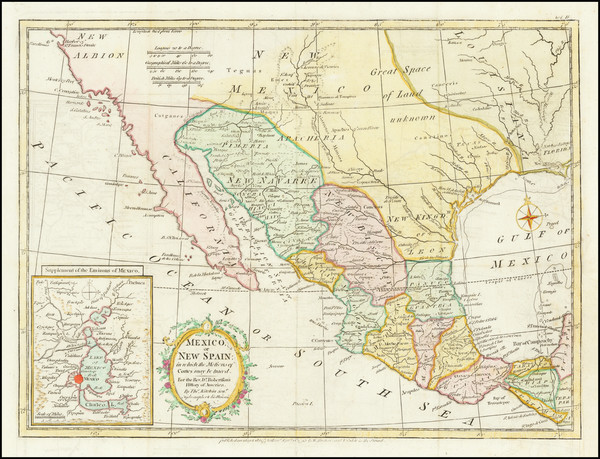 91-Texas, Southwest, Mexico and California Map By Strahan  &  Cadell