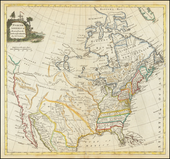 18-United States and North America Map By Thomas Kitchin